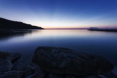 Still got the blues (Leonardo Del Prete) Tags: baiaflaminia adriatic sea mare baia bay blue blu longexposure sunset tramonto pesaro