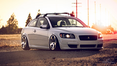 volvrvs-1 (Tyler Dillon) Tags: stance slammed stanced bagged bags volvo canon cars car c30 volvoc30 rotiform 5d 5dc m42 135mm f28 sunset