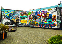 Wongi's Sketch Book (Steve Taylor (Photography)) Tags: wongi wilson tilt ikarus roa ododod jacob yikes freak sketchbook emma balloon house pencil thaicontainer art graffiti mural streetart tag stilllife wall colourful fun cool happy people newzealand nz southisland canterbury christchurch cbd city