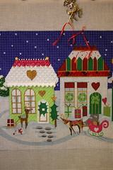 August 28 2016, Sunday (interchangeableparts) Tags: worksinprogress spockschristmas needlepoint melissashirley christmasvillage ruthschmuffstitchguide