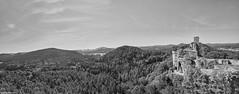 Grafendahn Panorama 1b&w (rainerneumann831) Tags: pfalz landschaft blackwhite linien dahn burg burgruinegrafendahn panorama