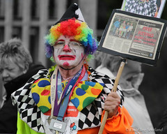 Tommy 'The Clown' Armstrong from Greenock - Charity Fundraiser (FotoFling Scotland) Tags: bute butehighlandgames clown event rothesay backhold charity fundraiser highlandgames isleofbute makeup tommytheclownarmstrong tommyarmstrong
