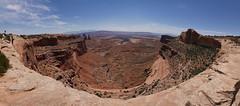 Canyonlands Atop Mesa Arch Manual Panorama (dieselgolfer) Tags: canyonlands mesaarch gm1 panasonic714mm
