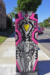 Wildly Painted Utility Box