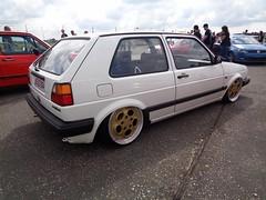 VW Golf 2 (911gt2rs) Tags: treffen meeting show tuning tief low stance airride oldschool 928 porsche wheels felgen rder weis white mk2 rabbit