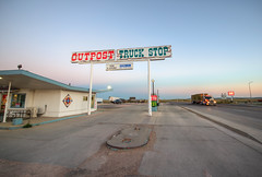 Outpost Truck Stop (ap0013) Tags: lusk wyoming sunset outpost truck stop truckstop trucking highway road plains outposttruckstop luskwy luskwyoming