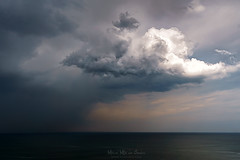 Lluvia (Mimadeo) Tags: rain sea downpour storm sky weather water landscape stormy ocean horizon cloud dark thunderstorm clouds seascape dramatic heavyrain wind pouringrain rainy