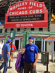365 Project - August 18 (lupe1515) Tags: 365 project jim olivia father daughter wrigleyfield cubs chicago first game baseball marquee