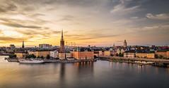 Summer sunset (jan.wallin) Tags: lee6gndsoft lee6nd2stop sunset afsnikkor16354gvr stockholm city nikond750 leelandscapepolariser nik stockholmsln sverige se outdoor water sky skyline sweden