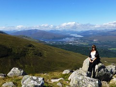 On top of the world..x (lisa@lethen) Tags: fort william scotland weather cloud view point ben nevis range rocks loch mountain me