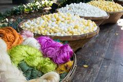 freshly spun silk (Lauren PM) Tags: silk coils natural baskets fiber thread jimthompson bangkok thailand