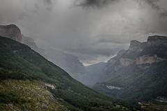 Lluvia (Carlos M. M.) Tags: aragn huesca pirineos ordesa lluvia rain canon100d hdr nubes clouds peaguara excursin hiking
