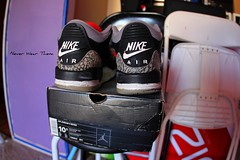 (Never Wear Them) Tags: original red white 3 black grey air iii cement nike jordan og jordan3 airs nikeairjordan