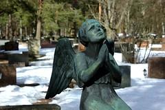 Kneeling (Tuck Happiness) Tags: friedhof cemeteries cemetery graveyard angel graveyards praying cementerio cemitrio kneeling cimetire hautausmaa cementerios tuusula cemitrios cimiteri  cimetires friedhoefe cimiteris paijala hautausmaat