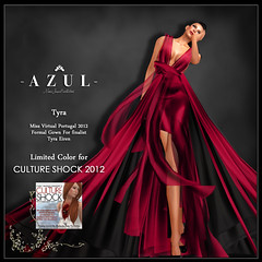 -AZUL- Tyra /CULTURE SHOCK limited color (pre-release item) (mami_jewell) Tags: azul dress formal event donation chic gown limited cultureshock charuty vanityhair modavia virtualimpressions