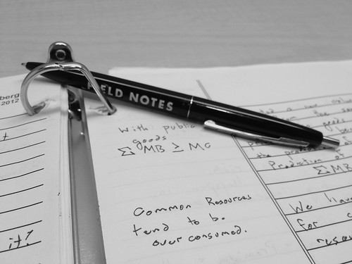 FIELD NOTES + Economics by MIGreenberg, on Flickr