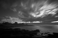 Convergence (loomstone) Tags: longexposure bw water monochrome clouds mono rocks massachusetts shoreline gloucester seashore seacoast daybreak bassrocks bigstopper