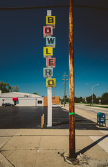 Bowlero (Chris Arace) Tags: road light sky colors sign vintage oak alley michigan royal coolidge pole sidewalk bowling type lettering portfolio cracks royaloak