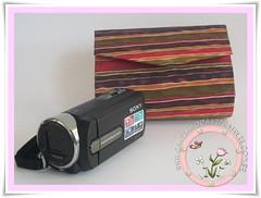 Capa para filmadora (Cantinho da Arte Ateli) Tags: portafoto presentesartesanais portamaquinadigital bolsinhaparamaquinadigital
