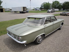 64 Chevrolet Corvair Monza (DVS1mn) Tags: green cars chevrolet car sedan four gm rear engine bowtie 64 chevy sixty nineteen 1964 corvair monza generalmotors 4door chevies nineteensixtyfour