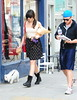 Daisy Lowe out and about in Primrose Hill London, England