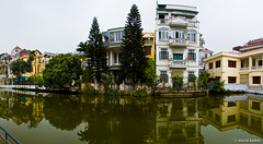 Hanoi Houses (davidkoiter) Tags: city travel panorama house reflection texture water canon grit eos pano wide dirty vietnam reflect 7d l series hanoi f4 1740 2012 f4l koiter davidkoiter