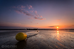 Oh Buoy! (images through a lens) Tags: ocean uk sunset beach yellow sand europe unitedkingdom britain somerset chain shipwreck buoy burnhamonsea berrow ssnornen