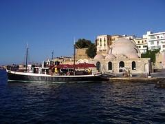 chania-canea porto creta (silvia07(very busy)) Tags: blue sea holidays mediterraneo barca day mare harbour clear creta greece porto grecia crete vacanze chania canea