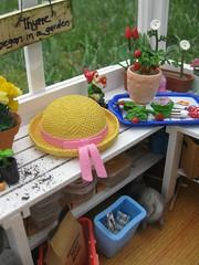 Mini Greenhouse11 (annesstuff) Tags: flowers plants garden toy miniature gardening eraser barbie mini greenhouse rement mattel diorama dollhouse hallmark megahouse roombox gardeningsupplies annesstuff