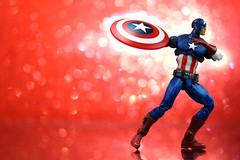Universal Captain America (JD Hancock) Tags: red favorite comics fun toy actionfigure action bokeh explore cc hero figure superhero char captainamerica marvelcomics avengers inkitchen cmwd cmwdred jdhancock