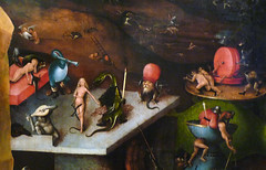 Hieronymus Bosch, The Last Judgement, Central Panel with Detail of Brothel