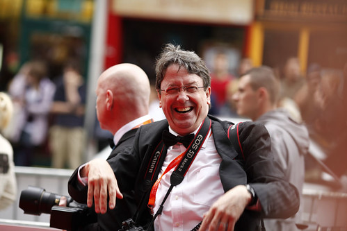 Press photographer on the red carpet for the European premiere of Brave at the Festival Theatre