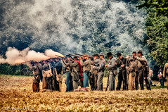 Photochrom of Confederate Troops (Zane's Photography) Tags: confederate civilwar reenactment 2012 18200vr photochrom niksoftware nikond300 willamettemission viveza2 silverefexpro2 photoshopcs6