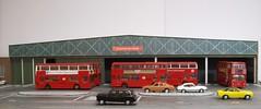 Bexleyheath Bus Garage (kingsway john) Tags: kingsway models 176 scale model card kit bexleyheath garage depot diorama dms t londontransportmodel bus oo gauge miniature