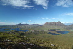 Loch Sionascaig, Suilven, Canisp and Cul Mor from Stac Pollaidh (Francis Mansell) Tags: mountain scotland highlands stacpollaidh scottishhighlands coigach stackpolly