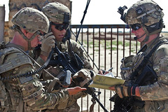 Calling in air support (The U.S. Army) Tags: afghanistan c patrol rcp ghazni 1504pir muqor