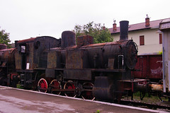 FS 895.115 0-8-0T in Trieste Railway Museum on 2 June 2012 (A Scotson) Tags: italy trains steam railways locomotives fs italianrailways 080t museoferroviarioditrieste triesterailwaymuseum class895