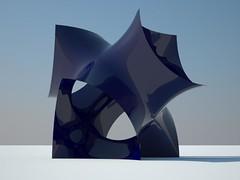 superficie minima (natsu) Tags: blue reflection texture glass 3d shiny university render like class refraction reno modelling rhinoceros mane 2012 vray