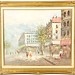 114. Original Parisian Street Scene Oil Painting