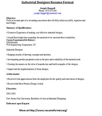 sample resume industrial designer resume format johnreese tags