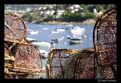 IMG_0117 (Churruk) Tags: verde puerto agua barcos galicia desenfoque cabos nasas beluso