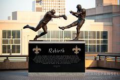 Rebirth Statue (NOLA_2T) Tags: statue nikon neworleans sigma mercedesbenz nola superdome d90 stevegleason nowhiteflags