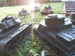 Sherman 1 fires on KingTiger (Gampire) Tags: 1 is ii combat fires sherman panzer kingtiger immobilized