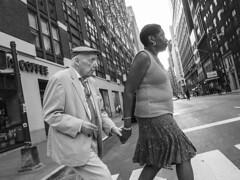 Hand in hand (tinta saloia) Tags: streetphotography holding hands newyorkcity pedestrians bronxville elderly man