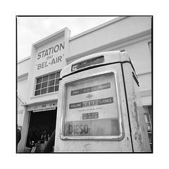 the survivor  bel air, burgundy  2016 (lem's) Tags: pump diesel gas station service vintage nationale 6 n6 pompe essence bourgogne burgundy hasselblad 500cm