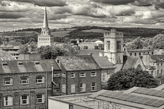 """""""The sleeping spires of Oxford"""", as seen from another spire"""