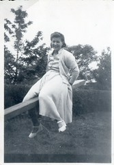 Scanned Vintage Photo - Elsie - Seesaw (TempusVolat) Tags: old vintage blackandwhite bw film scan scanned epsonperfectionv200 v200 epson gareth mrmorodo oldphoto photo snap thepast history times past oldphotograph dress girl woman man trousers smile field grass shirt photograph perfection female lady male tempusvolat tempus volat womenarebeautiful epsonscanner flickr getty interesting image picture gw scanner scanning scans photoscanner epsonperfection garethwonfor vintagefashion fashion wonfor seesaw straddle