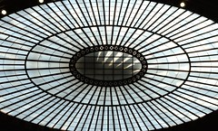Glass ceiling (pburka) Tags: oculus window round glass ceiling rays oval nmai manhattan nyc architecture bowlinggreen
