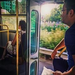 Bus two (Melissa Maples) Tags: antalya turkey trkiye asia  apple iphone iphone6 cameraphone square 11 instagram publictransport bus door turk woman man