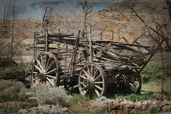 Vintage Wagon -Gold Hill, NV (Arlene Castro) Tags: historical wagon goldhillnv arlenecastrophotography memories ipiccy